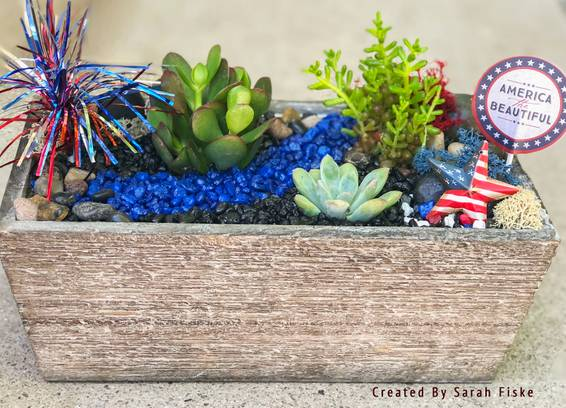 A Rustic Patriotic Garden plant nite project by Yaymaker