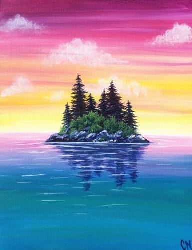 A Untitled Island paint nite project by Yaymaker