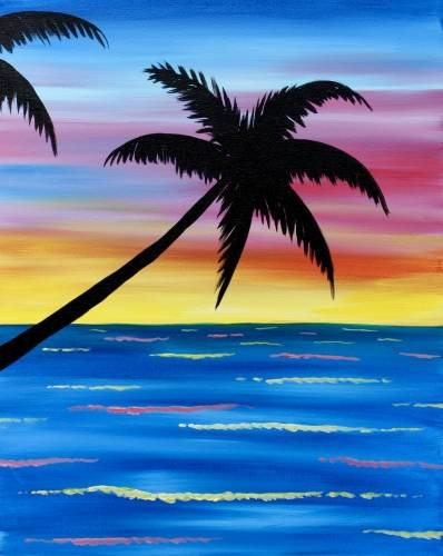 A Palm Beach Paradise paint nite project by Yaymaker