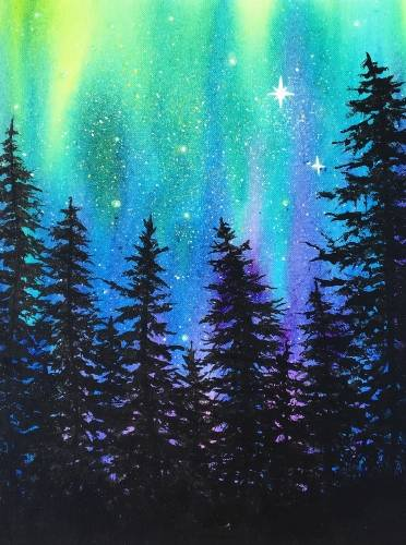 A Aurora Splash paint nite project by Yaymaker