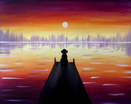 A Dog Days of Summer paint nite project by Yaymaker