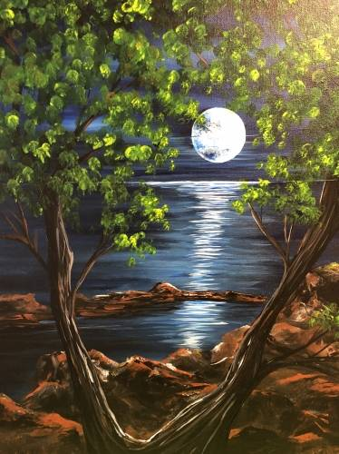 A Magnificent Moon paint nite project by Yaymaker
