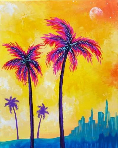 A Summer City II paint nite project by Yaymaker