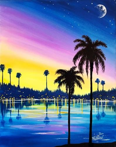 A Palm City Nights paint nite project by Yaymaker