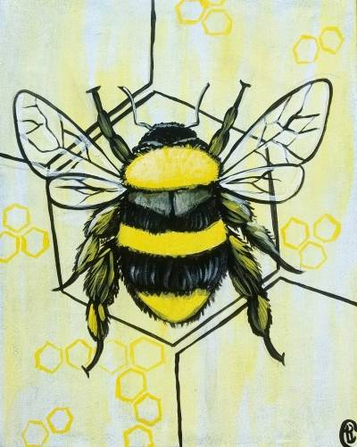 A Oh Beehive paint nite project by Yaymaker