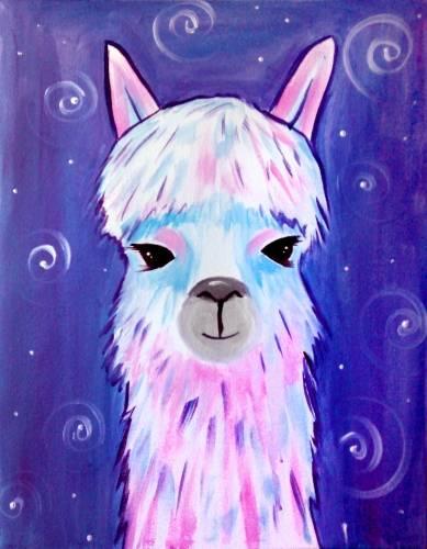 A Llive Llaugh Llama paint nite project by Yaymaker