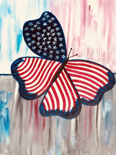 A The American Butterfly paint nite project by Yaymaker