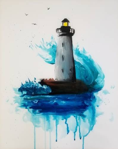 A Lighthouse Splash paint nite project by Yaymaker