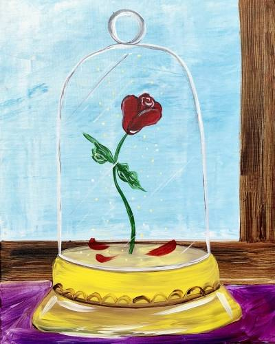 A The Enchanted Rose III paint nite project by Yaymaker
