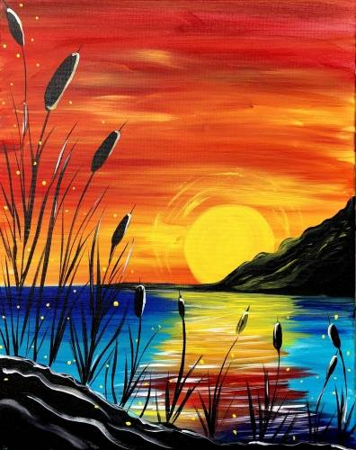 A Beach Moonlight II paint nite project by Yaymaker