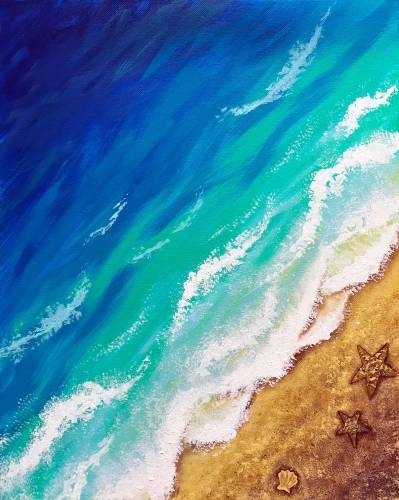 A The Sea Calls Me paint nite project by Yaymaker