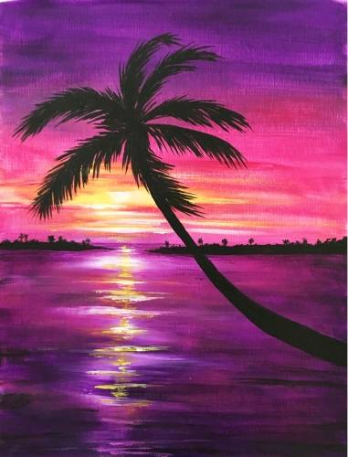 A Sunset in Paradise IV paint nite project by Yaymaker