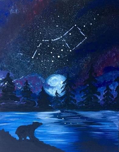 A Big Dipper Galaxy paint nite project by Yaymaker