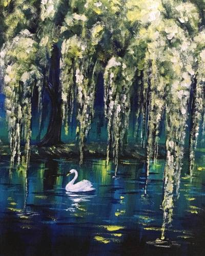 A Swan in the Willows paint nite project by Yaymaker