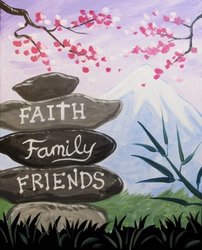 A Faith Family Friends paint nite project by Yaymaker