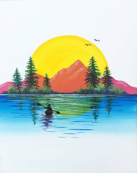 A Sunshine Mountains paint nite project by Yaymaker