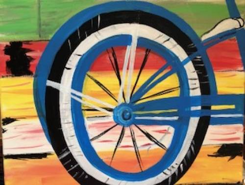 A The Wheel paint nite project by Yaymaker