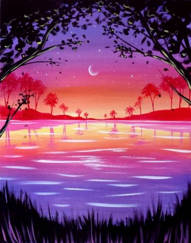 A Magic Moonrise paint nite project by Yaymaker