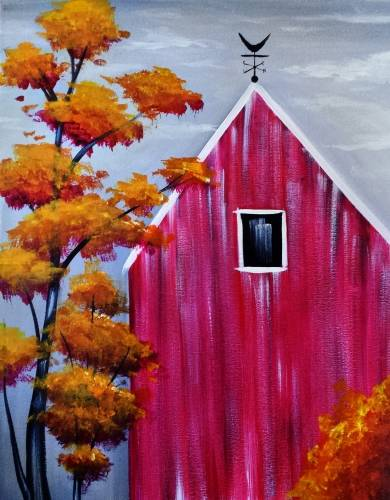 A Fall Barn paint nite project by Yaymaker