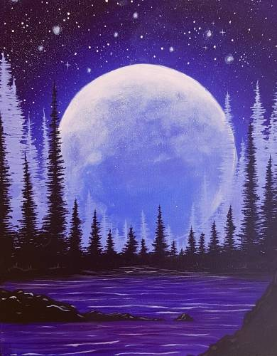 A Moon Bay paint nite project by Yaymaker