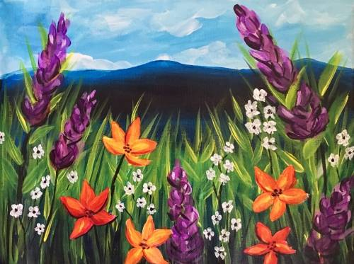 A Field of Wild Flowers paint nite project by Yaymaker