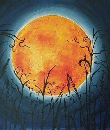 A Harvest Supermoon paint nite project by Yaymaker