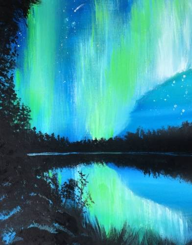 A Those Beautiful Northern Lights paint nite project by Yaymaker