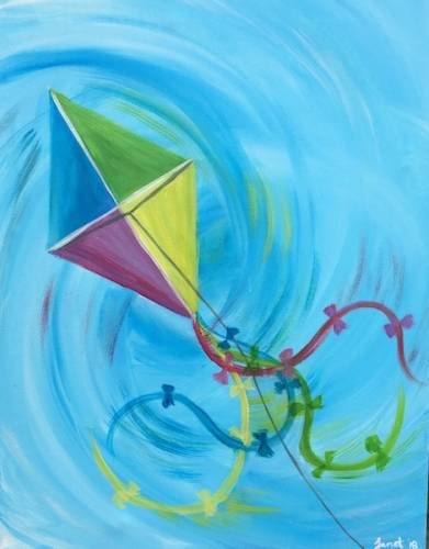 A Kite in Motion paint nite project by Yaymaker