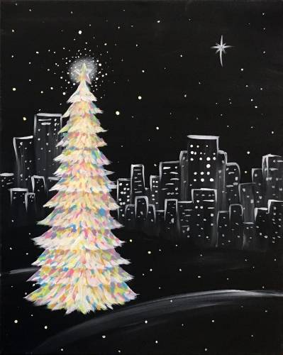 A Christmastime In The City paint nite project by Yaymaker