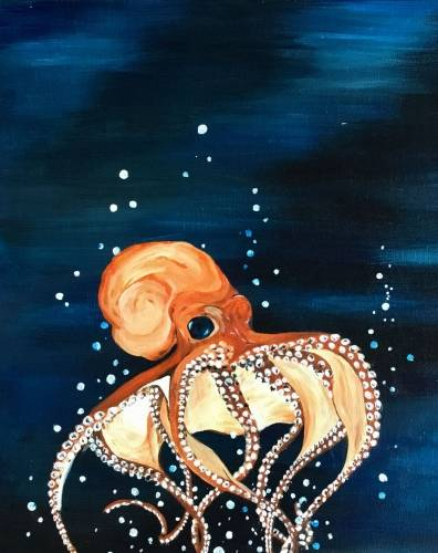 A Oscar the Octopus paint nite project by Yaymaker