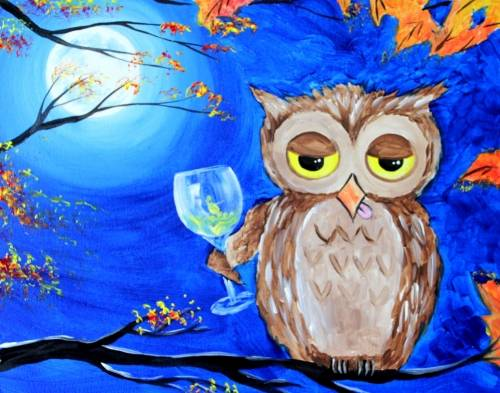 A Just Owlin Out paint nite project by Yaymaker