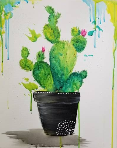 A Splashy Cacti paint nite project by Yaymaker