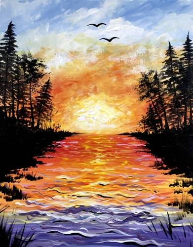 A Smoke on the Water II paint nite project by Yaymaker