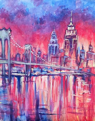 A Colorful NYC paint nite project by Yaymaker