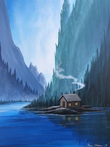 A Just Around the River Bend paint nite project by Yaymaker