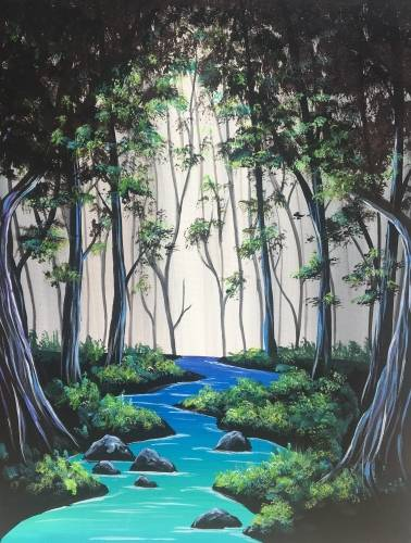 A Meandering Brook paint nite project by Yaymaker