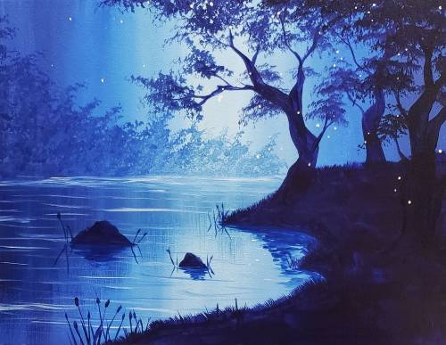A Peace at Twilight paint nite project by Yaymaker