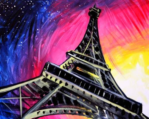A Its the Paris paint nite project by Yaymaker