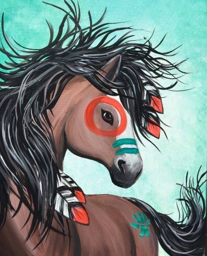 A War Horse paint nite project by Yaymaker