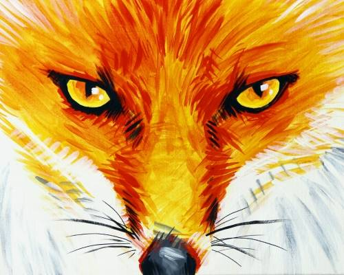 A Orange and Gray Fox paint nite project by Yaymaker