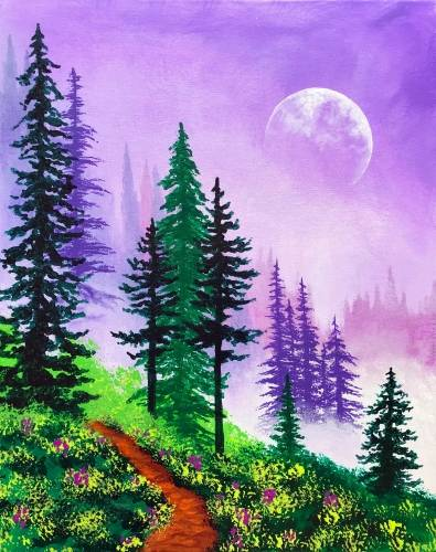 A Moonrise Mountain paint nite project by Yaymaker