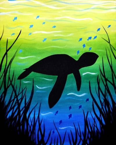 A Baby Turtle paint nite project by Yaymaker