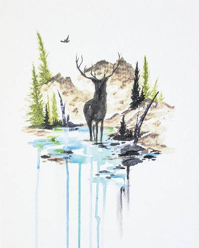 A Darcy The Deer paint nite project by Yaymaker