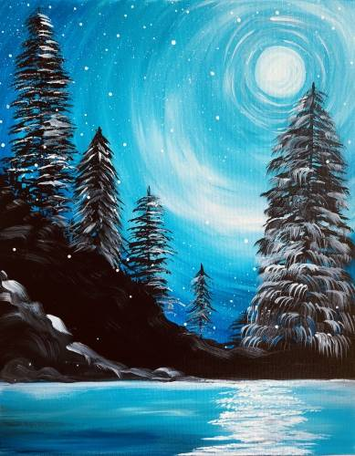 A Winter Moonlight paint nite project by Yaymaker