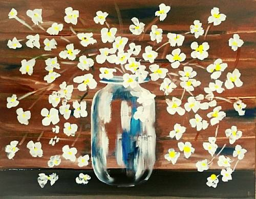 A Late Summer Flowers paint nite project by Yaymaker