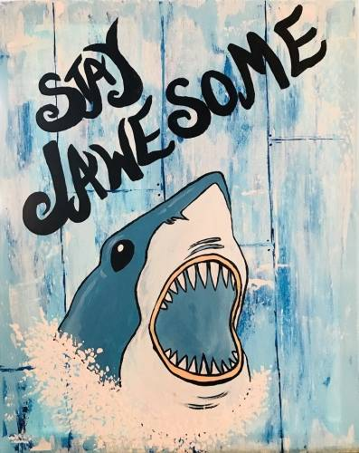 A Jawesome Sharkey paint nite project by Yaymaker