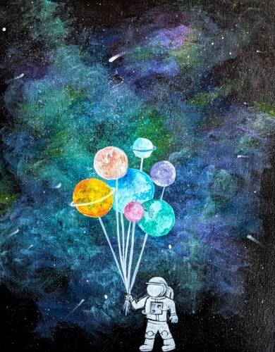 A Astronaut Love paint nite project by Yaymaker