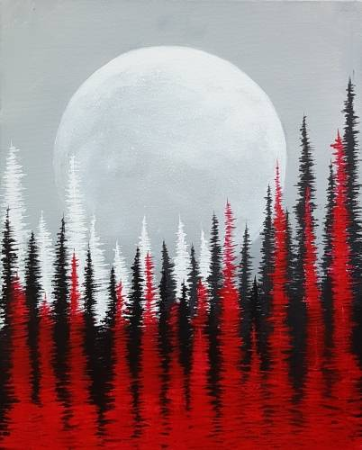 A Moonlit Night II paint nite project by Yaymaker