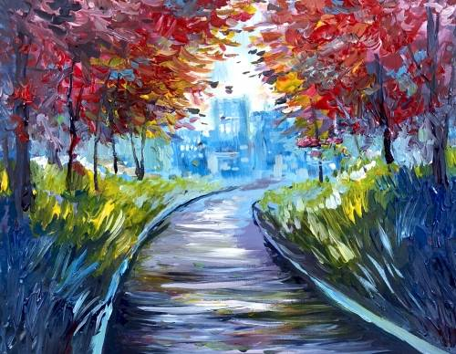 A City Park Path paint nite project by Yaymaker