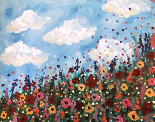 A Wild Flower Field paint nite project by Yaymaker